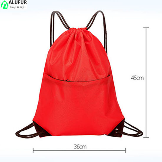 Drawstring Bags with Zipper Pockets Pattern