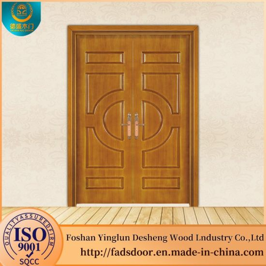 Desheng China Wood Door Manufacturer Indian Wooden Double Doors