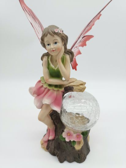 China Resin Flower Fairy Solar Light