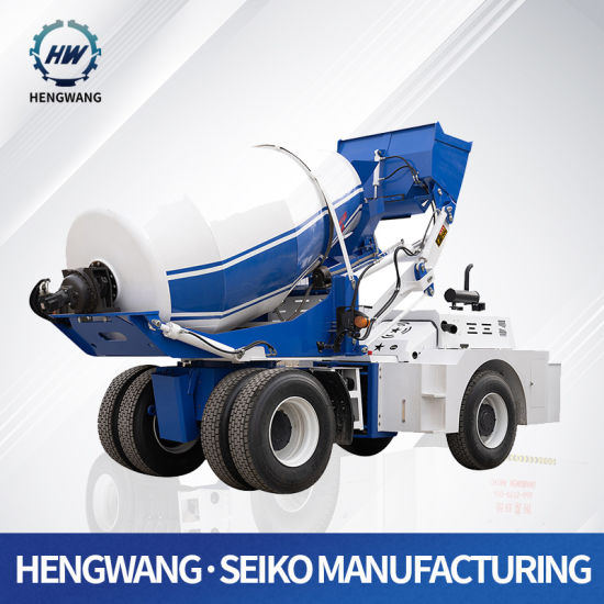 Auto Metering and Weighting System Small Self Loading Concrete Mixer Truck