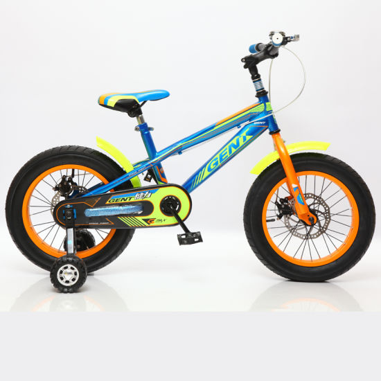 China Light Weight Boys 16 Inch Bike With 4 Wheels Cheap