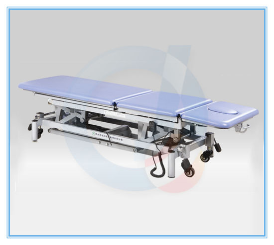 Three Section Top Power Adjustable Treatment Table Massage Table pictures & photos