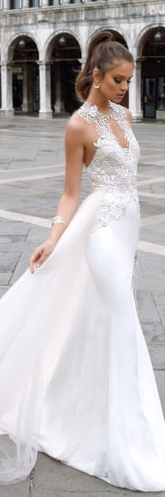 Sleeveless Wedding Dress Chiffon Lace Bridal Wedding Gown Ld15262 pictures & photos