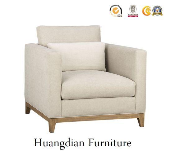 China Modern Single Fabric Sofa Chair Set With Ottoman For Living