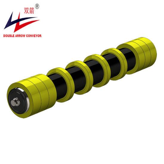 Sleeve Combing Rubber Ring Disc Return Roller for Belt Conveyor