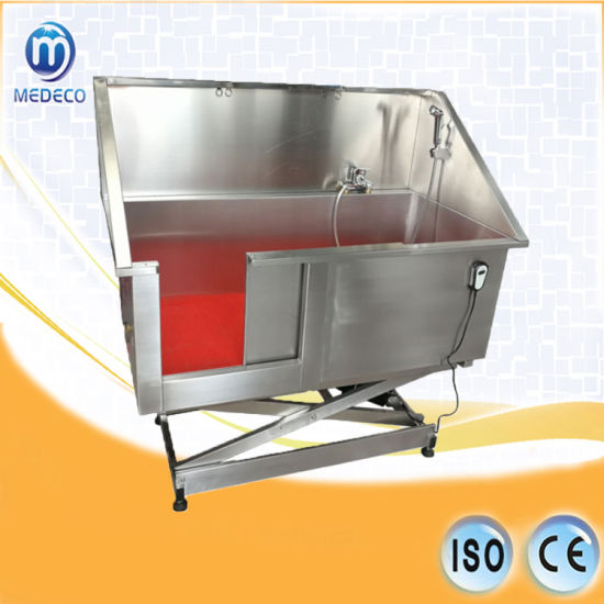 Veterinary Hospital Mex06 All Stainless Steel Electric Lift Animal Bathing Pool pictures & photos