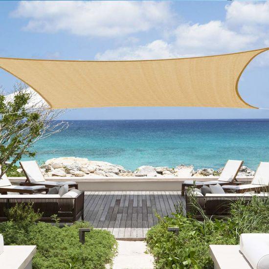 Rectangle Waterproof Sun Shade Sail UV Block for Outdoor Patio Garden
