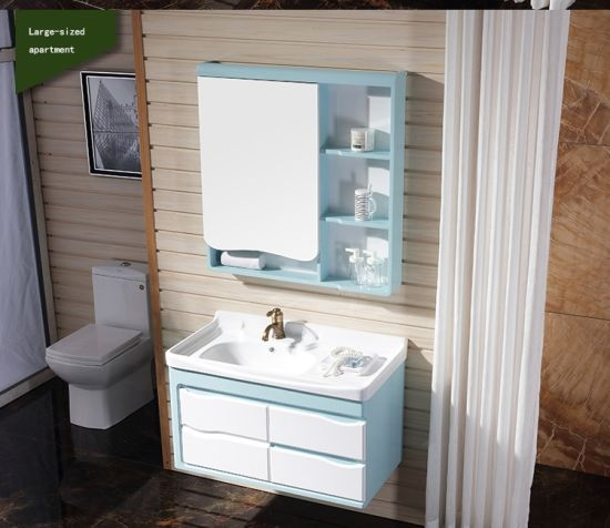 Simple and Best Price PVC Bathroom Vanity Cabinets pictures & photos