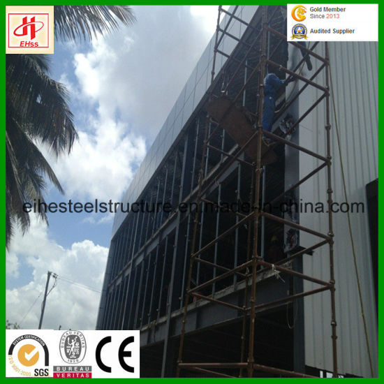 Construction Pre-Engineered Steel Structure Workshop with Office Building pictures & photos