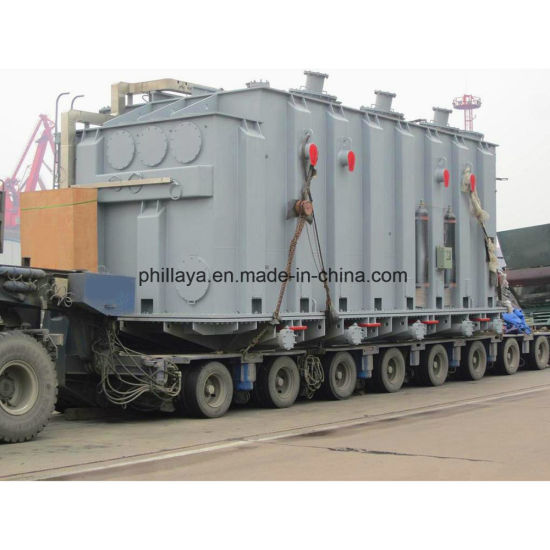 200ton Hydraulic Lifting Modular Self Propelled Trailer with Power Gooseneck pictures & photos