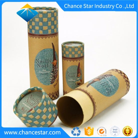 Custom Christmas Gift Packaging Thick Paper Cylinder Tube Box