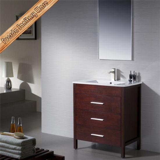 . Fed 1210 32 Inch Modern Ceramic Sink Slim Hotel Bathroom Furniture Bath  Cabinet