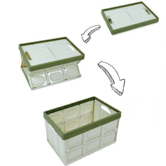 Foldable Basket Box, Plastic Folding Crate, Plastic Folding Storage Box