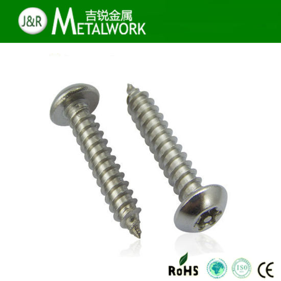 Stainless Steel Torx Pan Head Security Tapping Screw with Pin pictures & photos