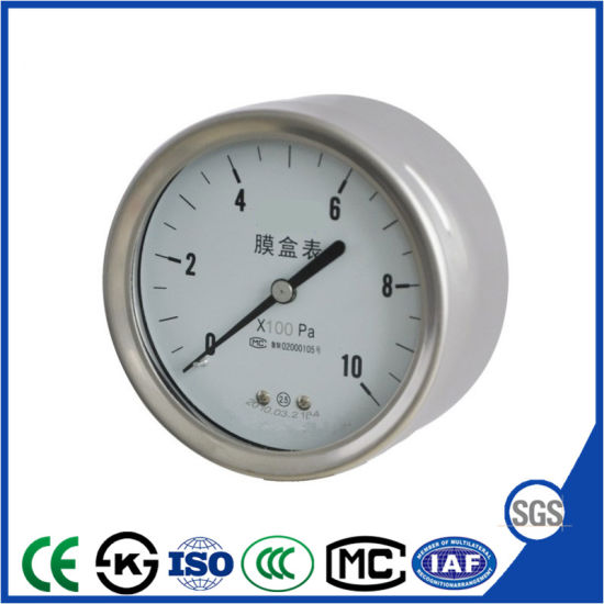 Capsule Manometer Pressure Gauge with High Quality