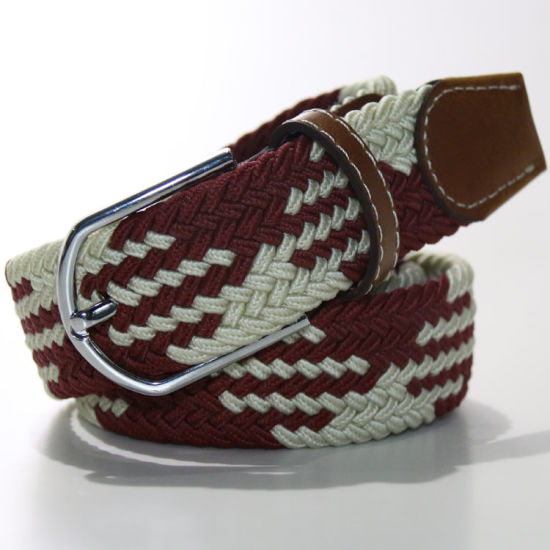 W08 Colorful Free Size Fashion Braided Webbing Belts for Men and Woman