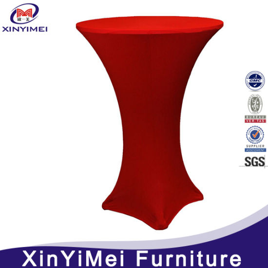 Wholesale Spandex High Bar Cocktail Bistro Table Cloth Cover /Tablecloths  Linens High Quality