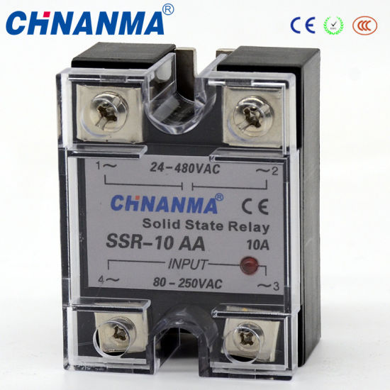 Control 3-32V DC Output 24-380V AC Single Phase SSR 10A Solid State Relay