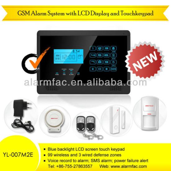 home burglar alarm security system/gsm wireless home business security alarm  --yl-