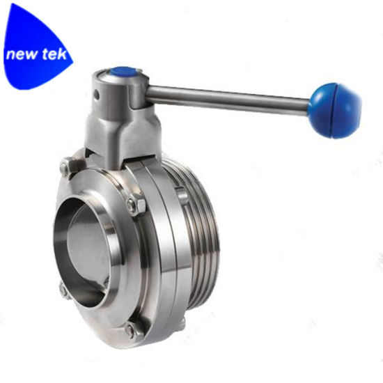 Stainless Steel Sanitary Butt Welded Butterfly Valve pictures & photos