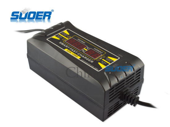 Suoer 6A 12V Three Phase Car Lithium Battery Charger for Golf Trolley pictures & photos