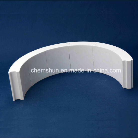 Chemshun Alumina Ceramic Plain Tile for Ceramic Lining Application Supplier pictures & photos