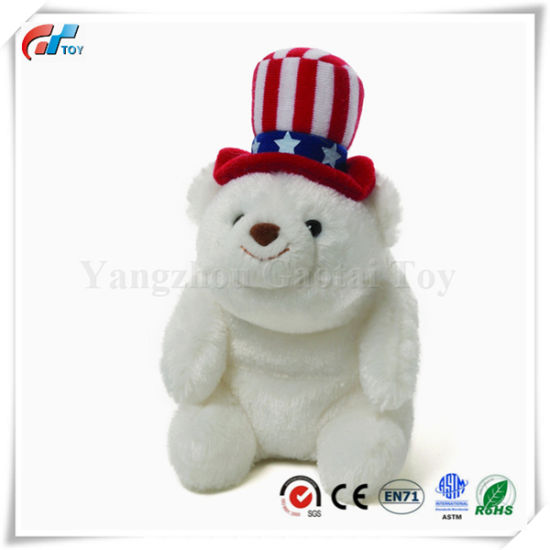 Snuffles Dressed as Uncle Sam Plush Polar Bear