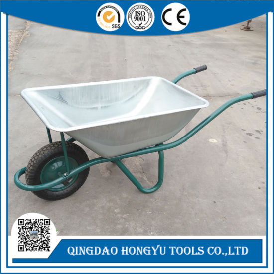 Heavy Duty Construction and Garden Tool Wheelbarrow for Portugal pictures & photos