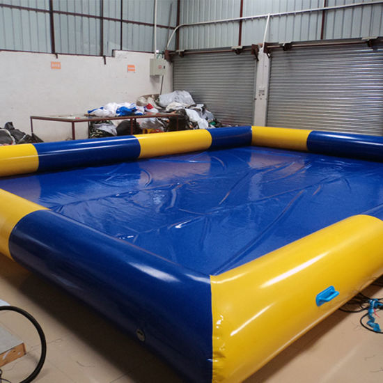 Tarpaulin Toy Square Inflatable Swimming Pool for Water Game (PL-015) pictures & photos
