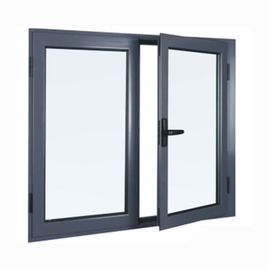 Double Glass Powder Coated Aluminum Extrusion Casement Window pictures & photos