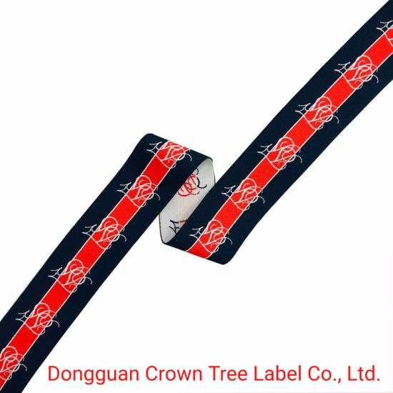 New Design Cherry Shape Jacquard Elastic Webbing with High Tenacity