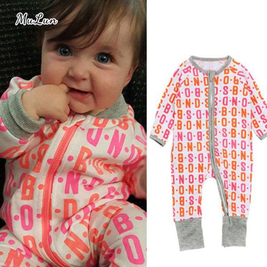 Wholesale Newborn Baby Boys Clothes Long Sleeve Bodysuit Baby Romper Jumpsuit