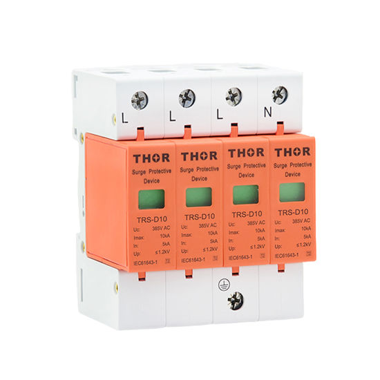 10ka Whole House Power Surge Protective Device Surge Lightning Arrester pictures & photos