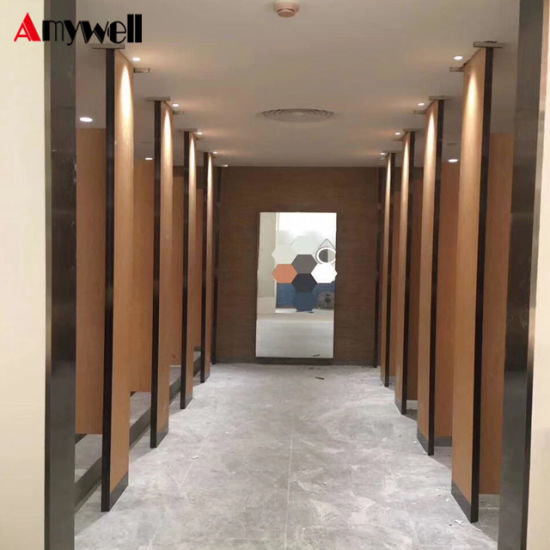 Amywell Wooden Color Mould Proof 5 Star Hotel Toilet Cubicle Partition