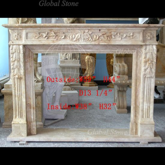Nature Stone Mantel Marble Indoor Fireplaces (GSMF-120) pictures & photos