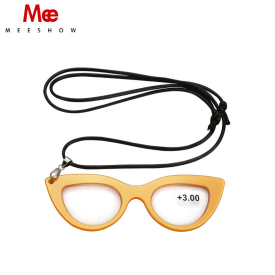 b97d646065ba Necklace Reading Glasses with Cord Acetate Frame No Arm Magnifying Glasses  Dropping Shipment