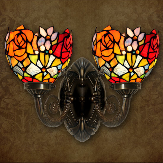 Decorative Tiffany Wall Lamp for Wholesale with Stained Glass