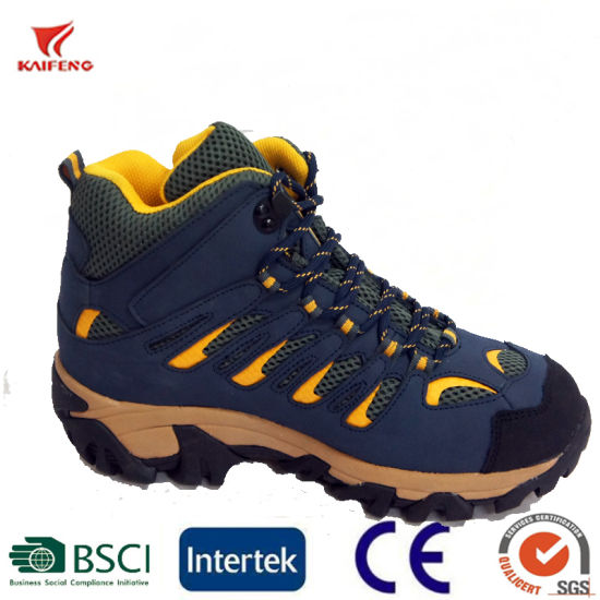 Man′s Outdoor Hiking Shoes Mesh Walking Sneaker pictures & photos