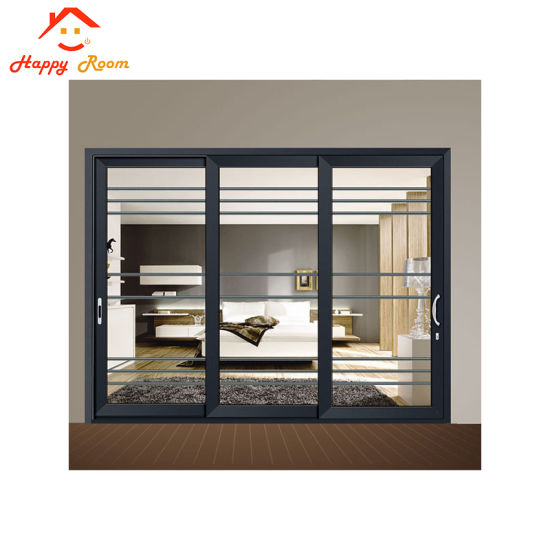 China Modern Interior Frosted Aluminiumaluminum Sliding Glass Door