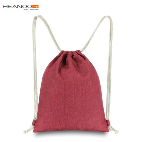 82243c3a2656 Strong Sport Cinch Pack Rope String Backpack Linen Gym Sack Drawstring Bag