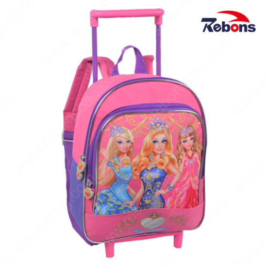 Multifunctional Utility Lightweight Pattern Dual-Use Trolley Luggage Shool Bag
