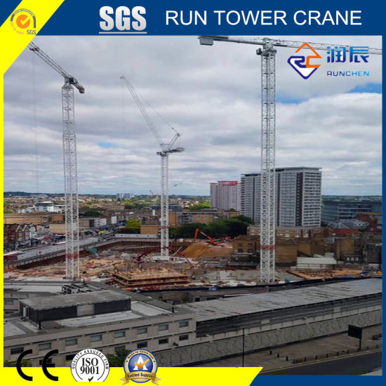 70240-80 Flat Top Tower Crane Tip Load 24 Ton for Construction Site