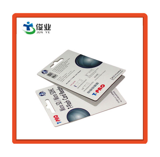 Paper Packaging Card for SD Card pictures & photos