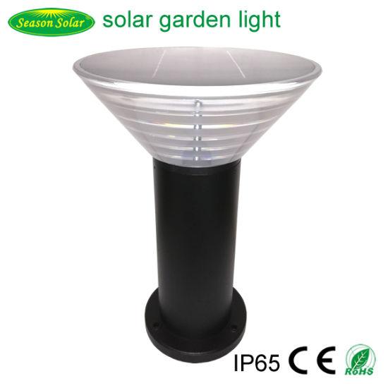 High Power Warm + White LED Lighting Post Outdoor Solar Pillar Light for Garden Lighting