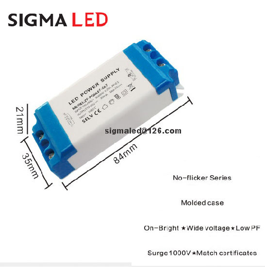 Factory Sales European Standard 100-240V Constant Current Flicker Free 300mA 3~12W LED Driver pictures & photos