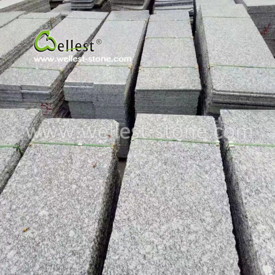 Flamed Grey Granite Small Slab for Coutertop, Tile, Step, Coping