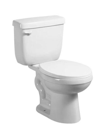 8137 Mini Tank, Small Toilet, Round Siphonic Two Piece Toilet, Loza Sanitarios, Inodoro