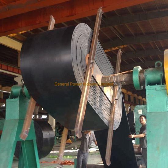 Wearing Resistant EE/EP/NN Industrial Rubber Conveyor Belt Abrasive 50mm3-150mm3 High Stretch