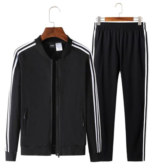 Fashion Men's Cotton Zipper up Hoodie Tracksuit Without Hood