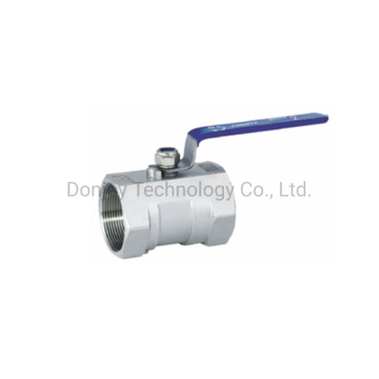SS304 One Piece Industrial Female Ball Valve with Handle pictures & photos
